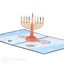 Hanukkah Menorah 3D Pop Up Card #3917
