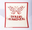 Happy Birthday Butterfly Handmade 3D Pop Up Card #3289