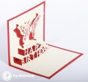 3D Pop-Up Greetings Card #3292
