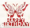 Happy Birthday Butterfly Handmade 3D Pop Up Card #3293