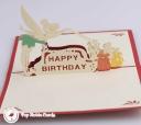 Tinkerbell Fairy Happy Birthday Handmade 3D Birthday Card #2978
