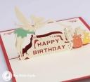 Tinkerbell Fairy Happy Birthday Handmade 3D Birthday Card #2979