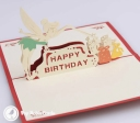 3D Pop-Up Greetings Card #2980