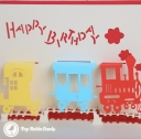 3D Pop-Up Greetings Card #3301