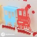 Happy Birthday Steam Train Handmade 3D Pop Up Card #3303