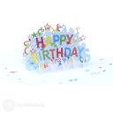 Happy Birthday Streamers 3D Handmade Card #3378
