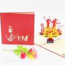 3D Pop-Up Greetings Card #2925