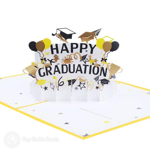 Happy Graduation Congratulations 3D Pop Up Card