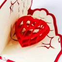 Heart in Hands 3D Pop Up Greeting Card 1965