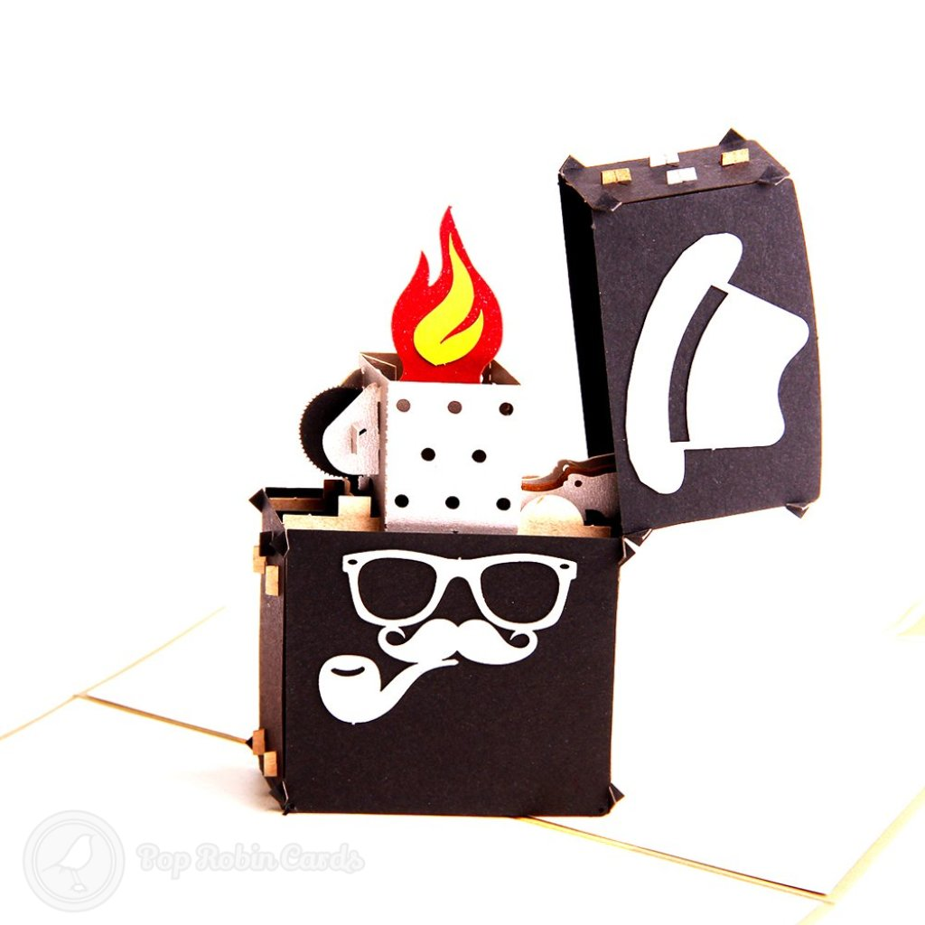 Heisenberg Lighter with Flame Handmade 3D Pop-Up Card #2129