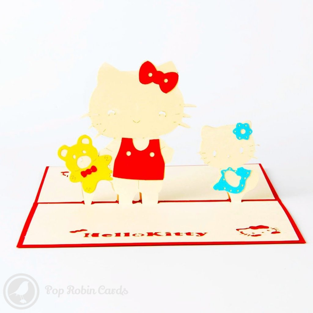 Hello Kitty 3D Pop-Up Greeting Card 1608