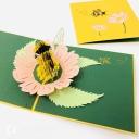 Honey Bee Collecting Pollen 3D Handmade Pop Up Card #3840
