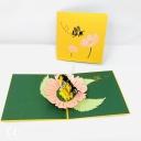 Honey Bee Collecting Pollen 3D Handmade Pop Up Card #3841