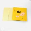 Honey Bee Collecting Pollen 3D Handmade Pop Up Card #3845