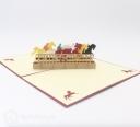 Horse Race 3D Handmade Pop Up Greeting Card #3396