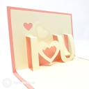 """I ♥️ U"" 3D Handmade Pop Up Card #3795"