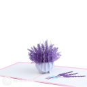 Gorgeous Purple Lavender 3D Pop Up Card #3187
