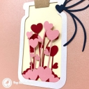 Love In A Jar 3D Pop Up Handmade Card #3817