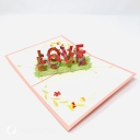 Love Meadow 3D Handmade Pop Up Card #3736