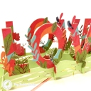 Love Meadow 3D Handmade Pop Up Card #3738