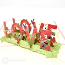 Love Meadow 3D Handmade Pop Up Card #3739