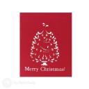 Magic Christmas Tree And White Reindeer3D Pop Up Handmade Card #3515