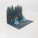 Magical Christmas Forest Handmade 3D Card #3425