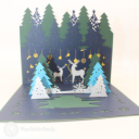 Magical Christmas Forest Handmade 3D Card #3427