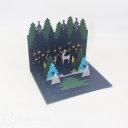 Magical Christmas Forest Handmade 3D Card #3428