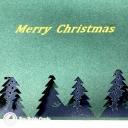 Magical Christmas Forest Handmade 3D Card #3625