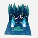 Magical Christmas Forest Handmade 3D Card #3626