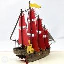 Majestic High Galleon 3D Pop Up Handmade Greeting Card #3745