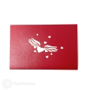 Many Layered Heart 3D Handmade Pop Up Card #3791