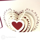 Many Layered Heart 3D Handmade Pop Up Card #3793