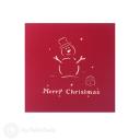 Merry Christmas Snowman 3D Pop Up Card #3489