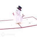 Merry Christmas Snowman 3D Pop Up Card #3493