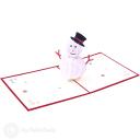 Merry Christmas Snowman 3D Pop Up Card #3495