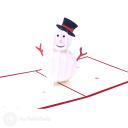 Merry Christmas Snowman 3D Pop Up Card #3496