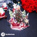 Merry Christmas Tree Family Scene Handmade 3D Pop-Up Christmas Card #2528