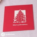 Merry Xmas Cut-Out Christmas Tree 3D Pop-Up Christmas Card #2849