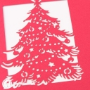 Merry Xmas Cut-Out Christmas Tree 3D Pop-Up Christmas Card #2853