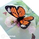 Monarch Butterfly In Meadow Handmade 3D Pop-Up Card #2377