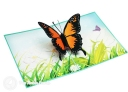 Monarch Butterfly In Meadow Handmade 3D Pop-Up Card #2880