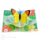 Monarch Butterfly In Meadow Handmade 3D Pop-Up Card #2895