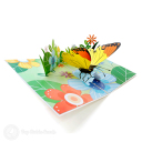 Monarch Butterfly In Meadow Handmade 3D Pop-Up Card #2896
