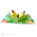 Monarch Butterfly In Meadow Handmade 3D Pop-Up Card #2898