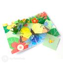 Monarch Butterfly In Meadow Handmade 3D Pop-Up Card #2899