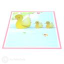 Mother Duck & Ducklings 3D Greetings Card #3358