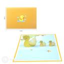 Mother Duck & Ducklings 3D Greetings Card #3362