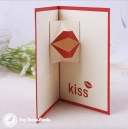 Moving Kiss Handmade 3D Pop Up Card #3295